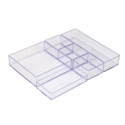 Organizador Modular Prime C/ 6 Peças - Cristal