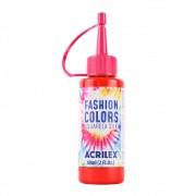 Tinta De Tecido Aquarela Silk Fashion - Vermelho Fogo