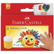 Tinta Guache Pitura a Dedo Faber Castell 6 cores