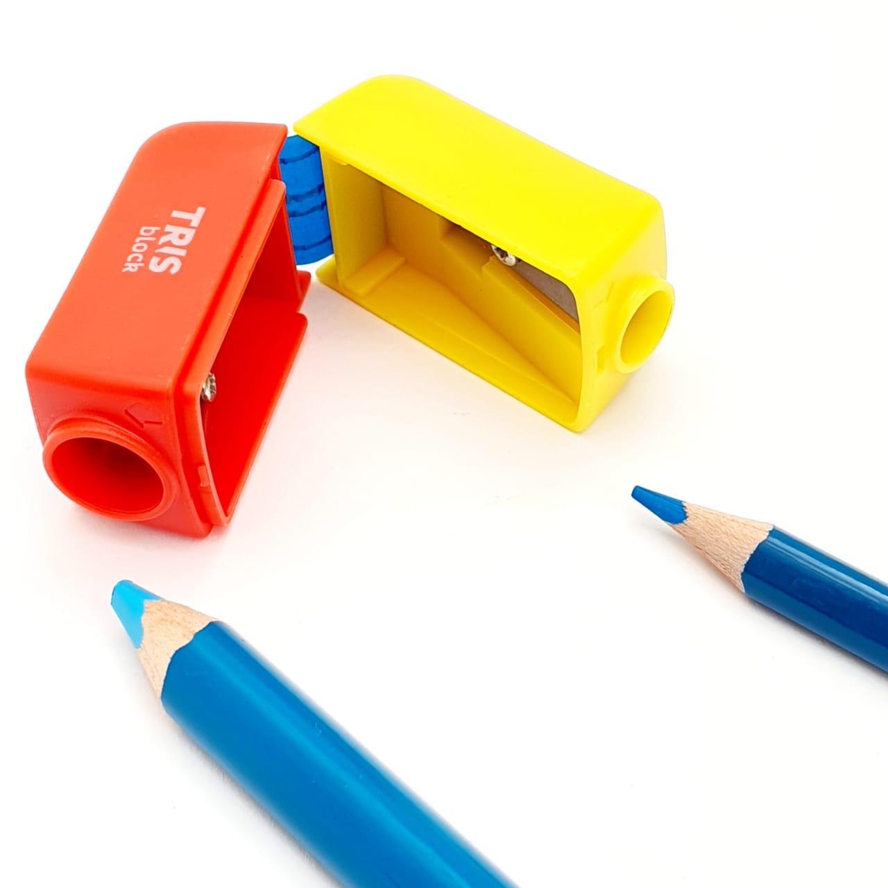 Apontador Duplo Block C/ Depósito Tris