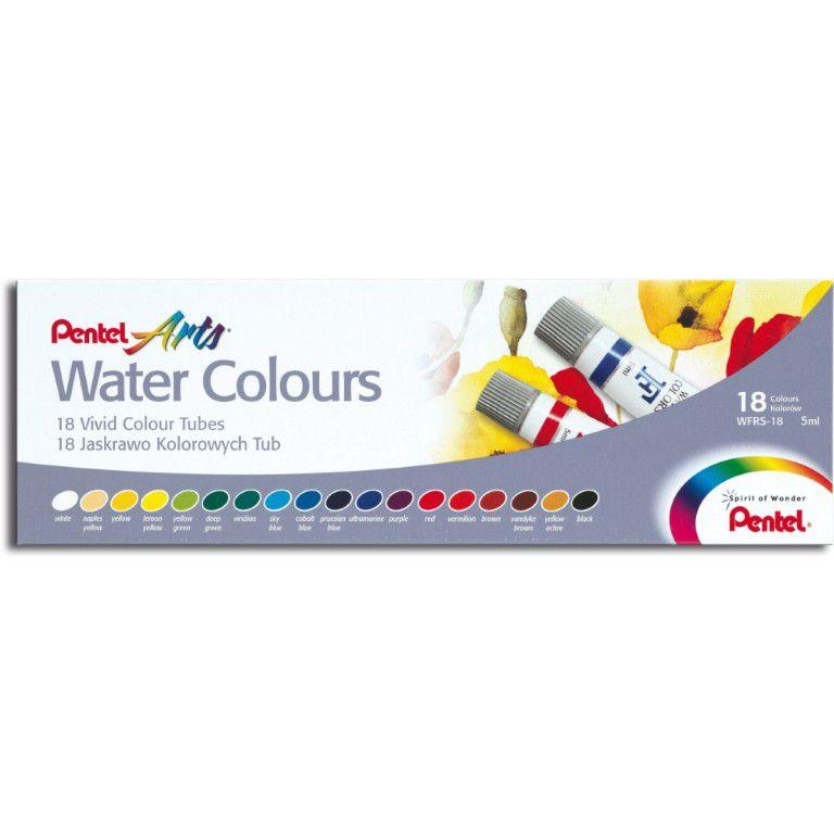 Aquarela Pentel Arts Water Colours C/ 18 Tubos