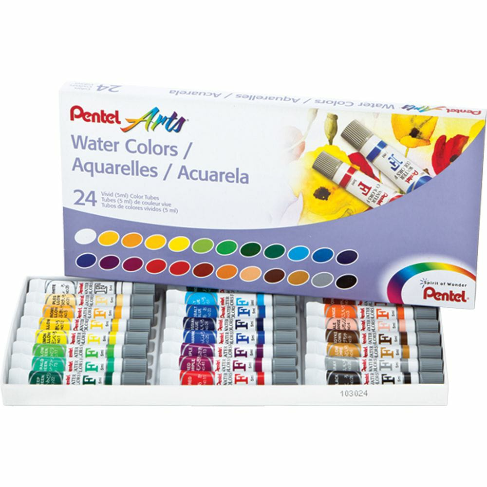 Aquarela Pentel Arts Water Colours C/ 24 Tubos