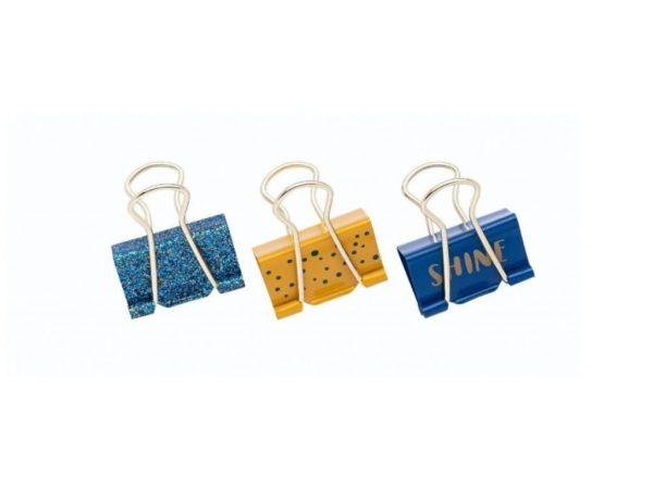 Binder Clips Especial Love Azul - Molin