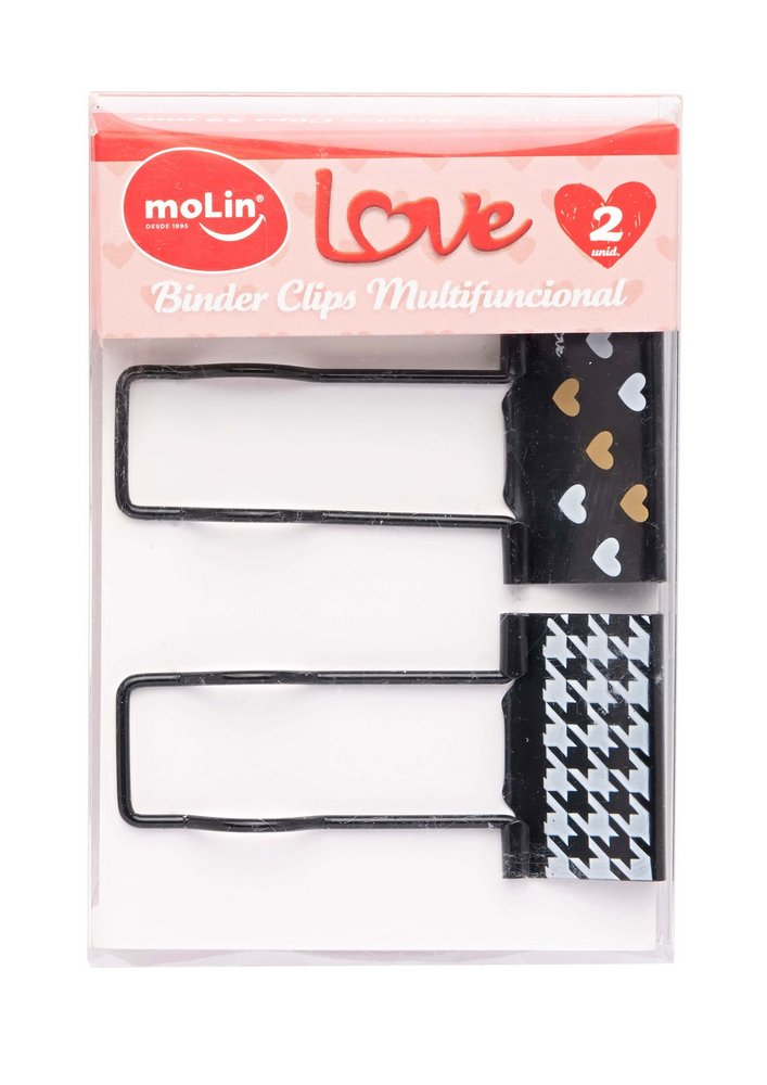 Binder Clips Multifuncional 32mm Love - Molin