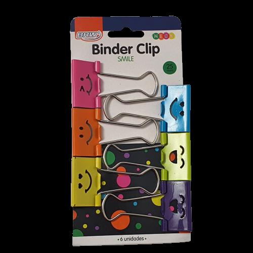 Binder Clips Smile 25mm Brw