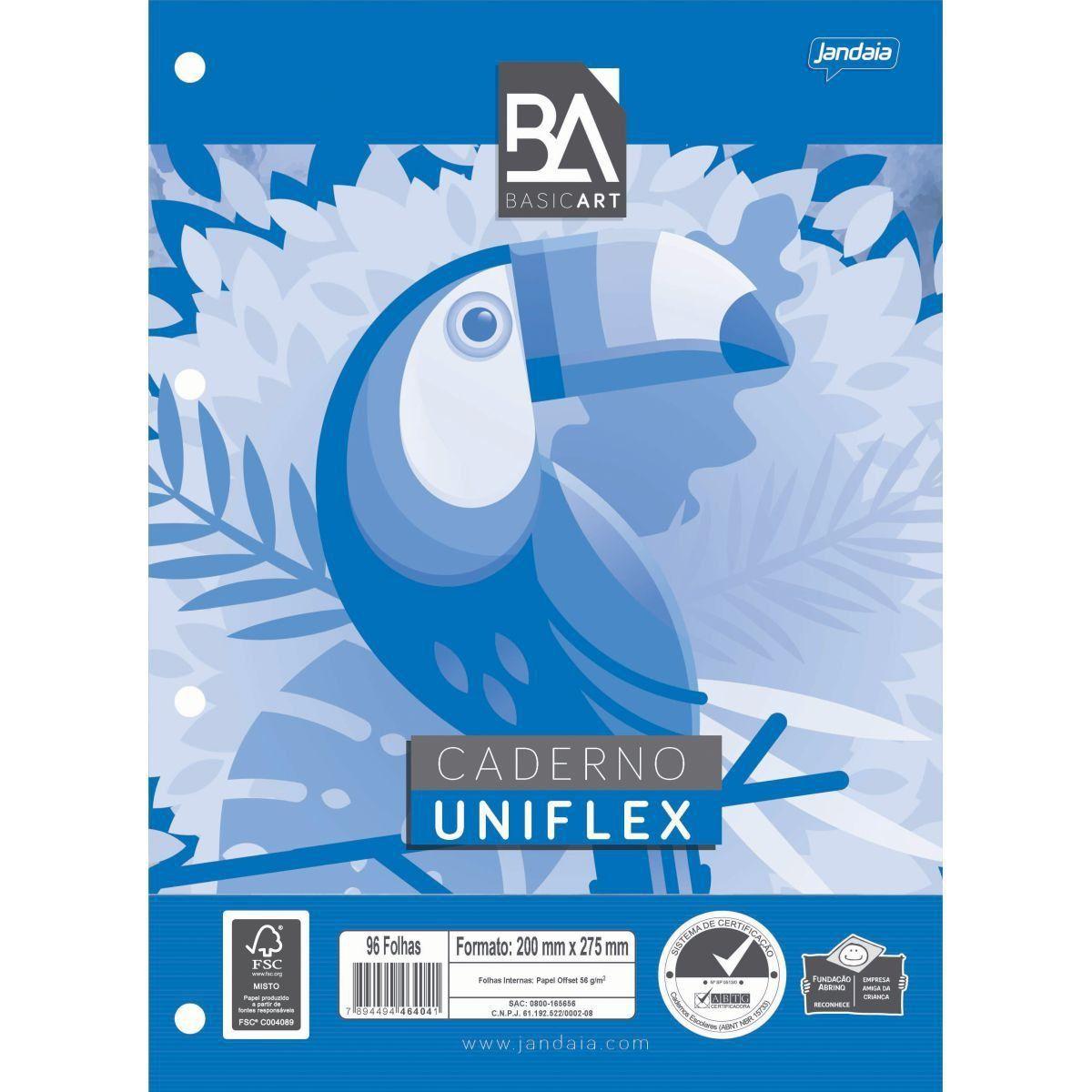 Bloco Para Fichário Uniflex 96 fls - Jandaia