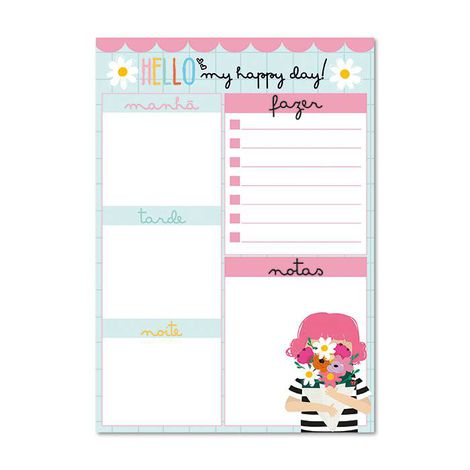 Bloco Planner Diário My Happy Day