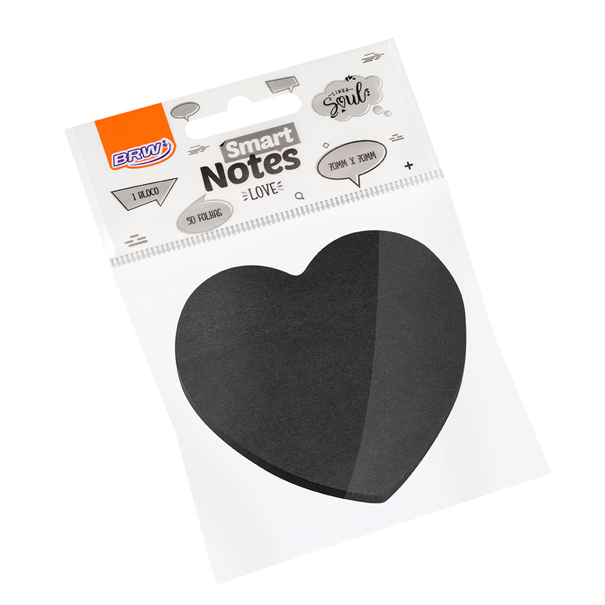 Bloco Smart Love Preto 70mm x 70mm - Brw