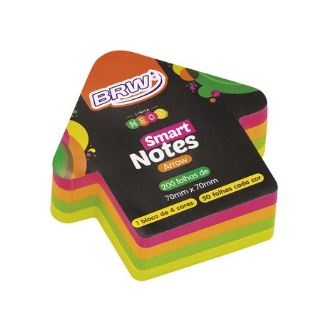 BLOCO SMART NOTES ARROW NEON SETA 200 FLS - BRW