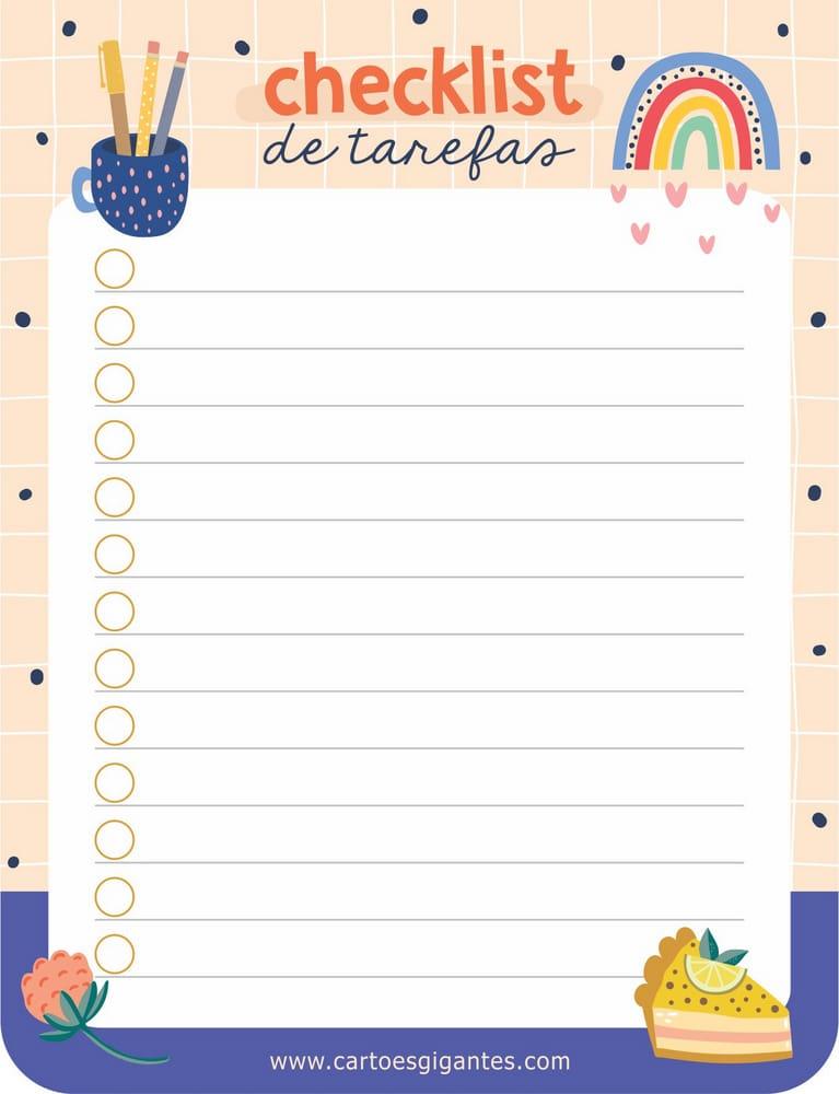 Bloquinho Do Dia Checklist De Tarefas