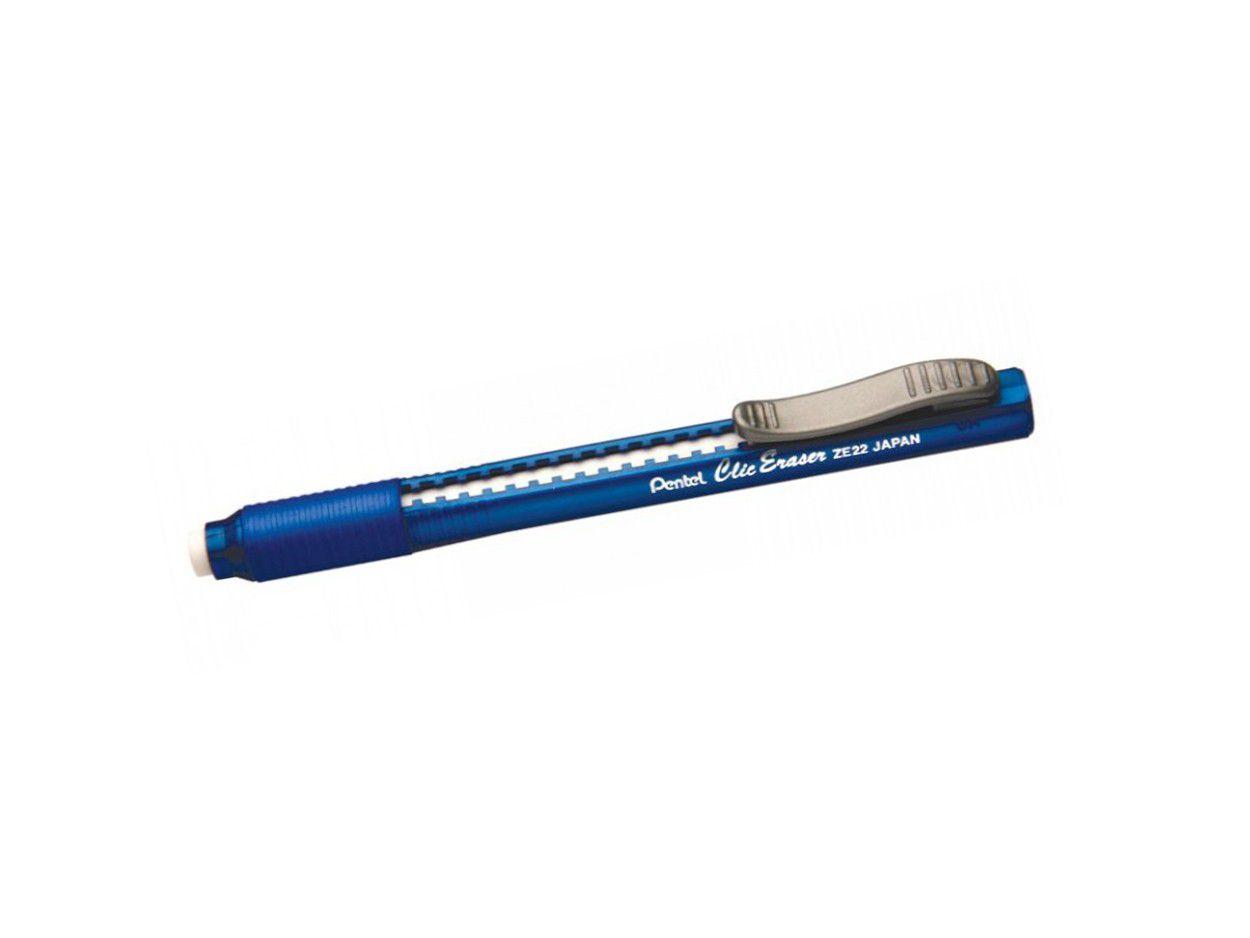 Borracha Pentel Click Eraser - Azul