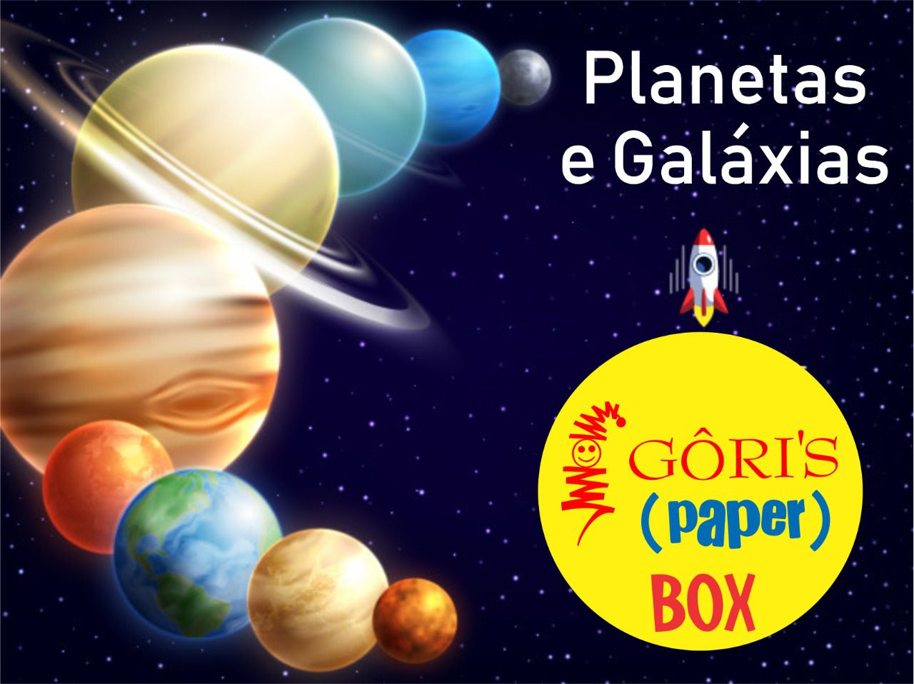 Box Mensal 5 Edição Planetas e Galáxias