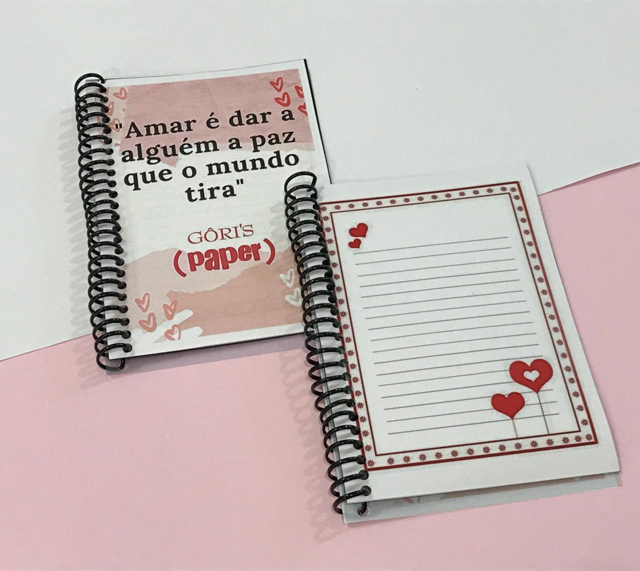 Caderneta love personalizada