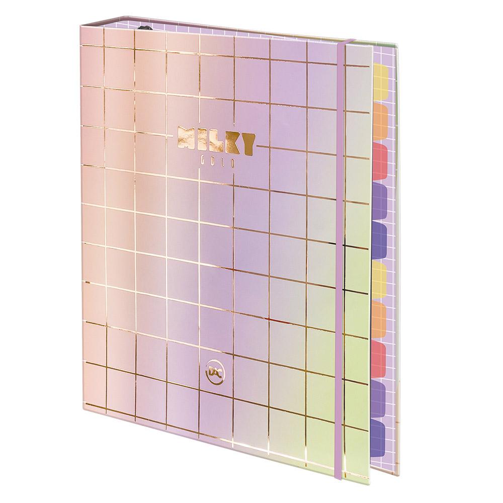 Caderno Argolado Universitário Milky Gold Dac