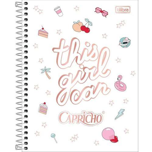 CADERNO COLEGIAL CAPRICHO 1x1 C/ 80 FLS - TILIBRA