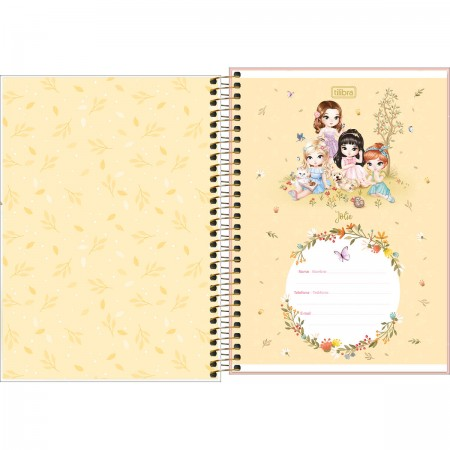 Caderno Espiral 1/4 Jolie C/ 80 Folhas