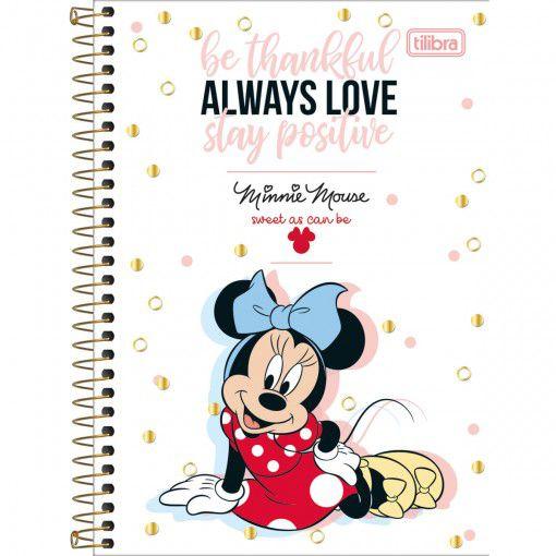 Caderno Espiral 1/4 Minnie Mouse Tilibra