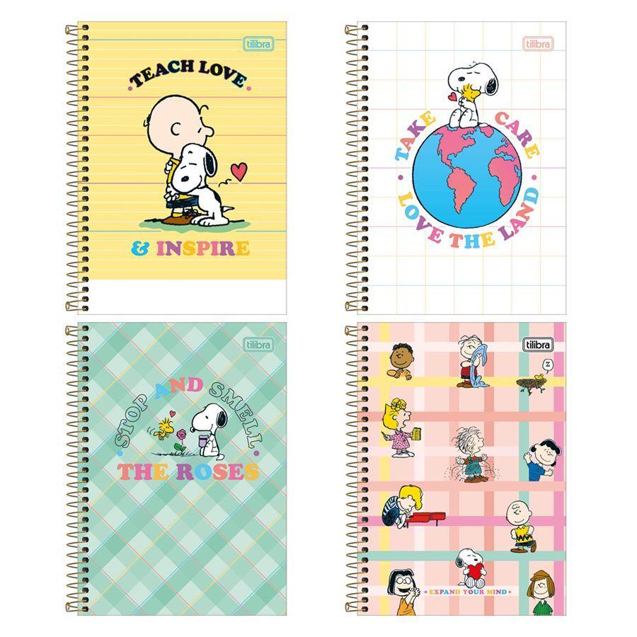 Caderno Espiral 1/4 Snoopy C/80 Folhas - Tilibra