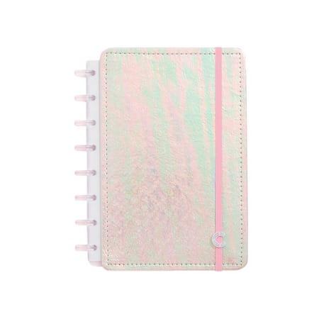 Caderno Inteligente Rosa Holográfico A5