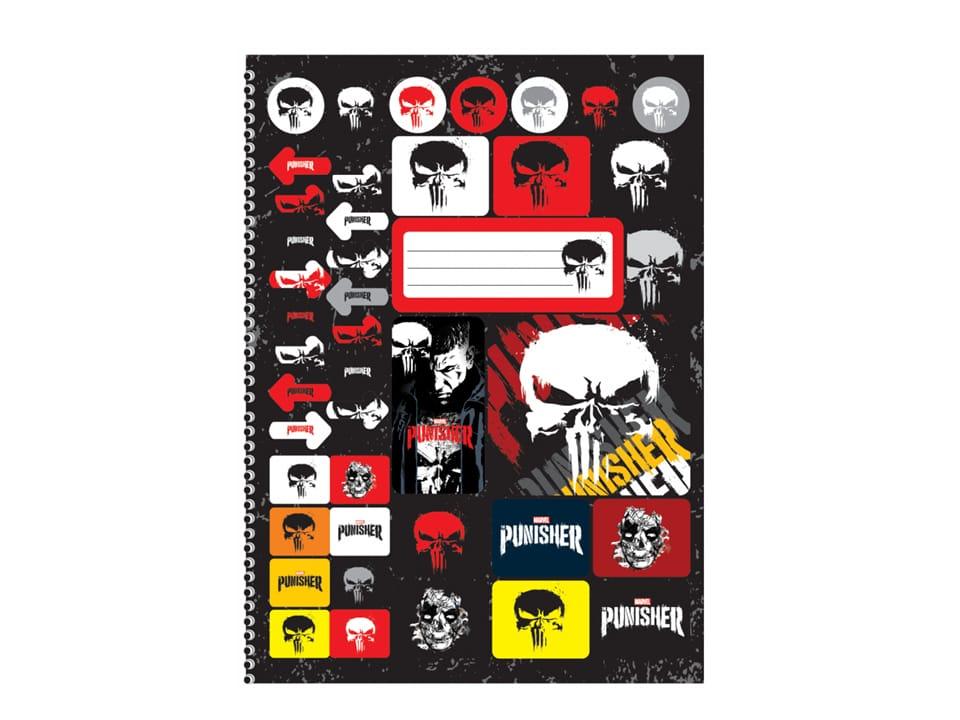 Caderno Universitário Espiral Punisher