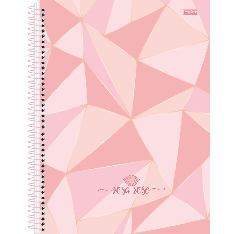 Caderno Universitário Espiral Rosa Rose 1 Matéria