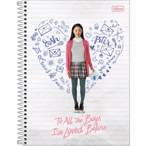 Caderno Universitário Espiral To All The Boys 80 Folhas