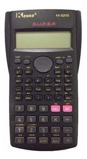 Calculador Científica Kenko Kk-82ms 240 Funções + Capa