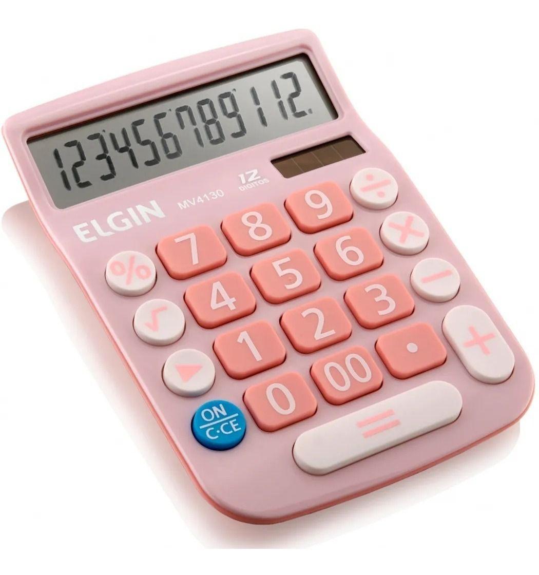 Calculadora De Mesa 12 Dígitos MV 4130 Rosa - ELGIN