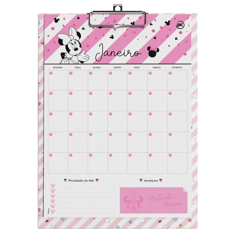 Calendário Planner Prancheta Minnie - DAC