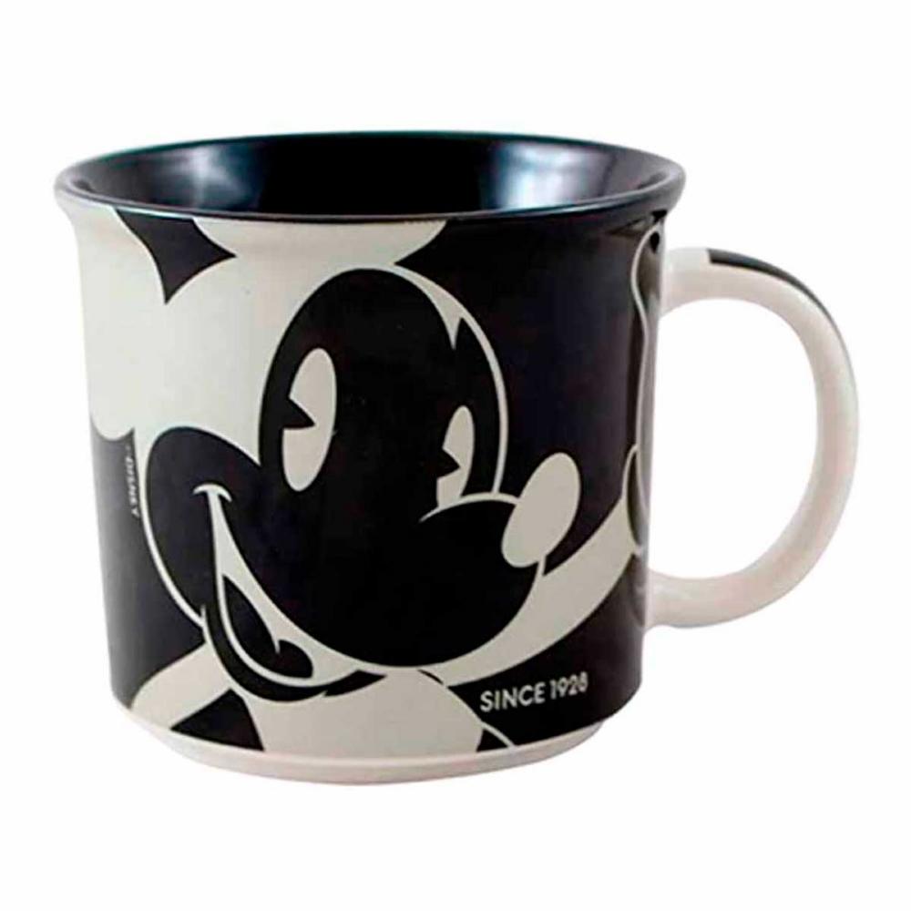 Caneca Mickey Mouse preta e prata