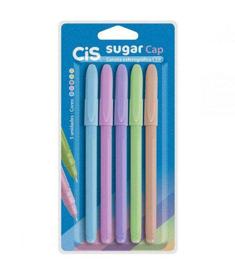 Caneta Esferográfica Sugar Cap Cis C/5