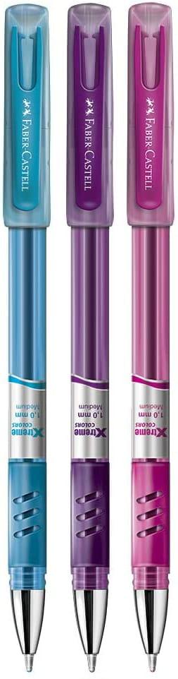 Caneta Esferográfica Xtreme Colors 1.0mm Faber-Castell