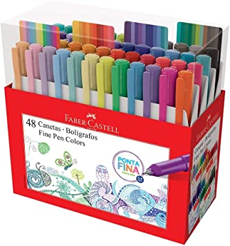 Caneta Fine Pen Colors Estojo C/ 48 Cores