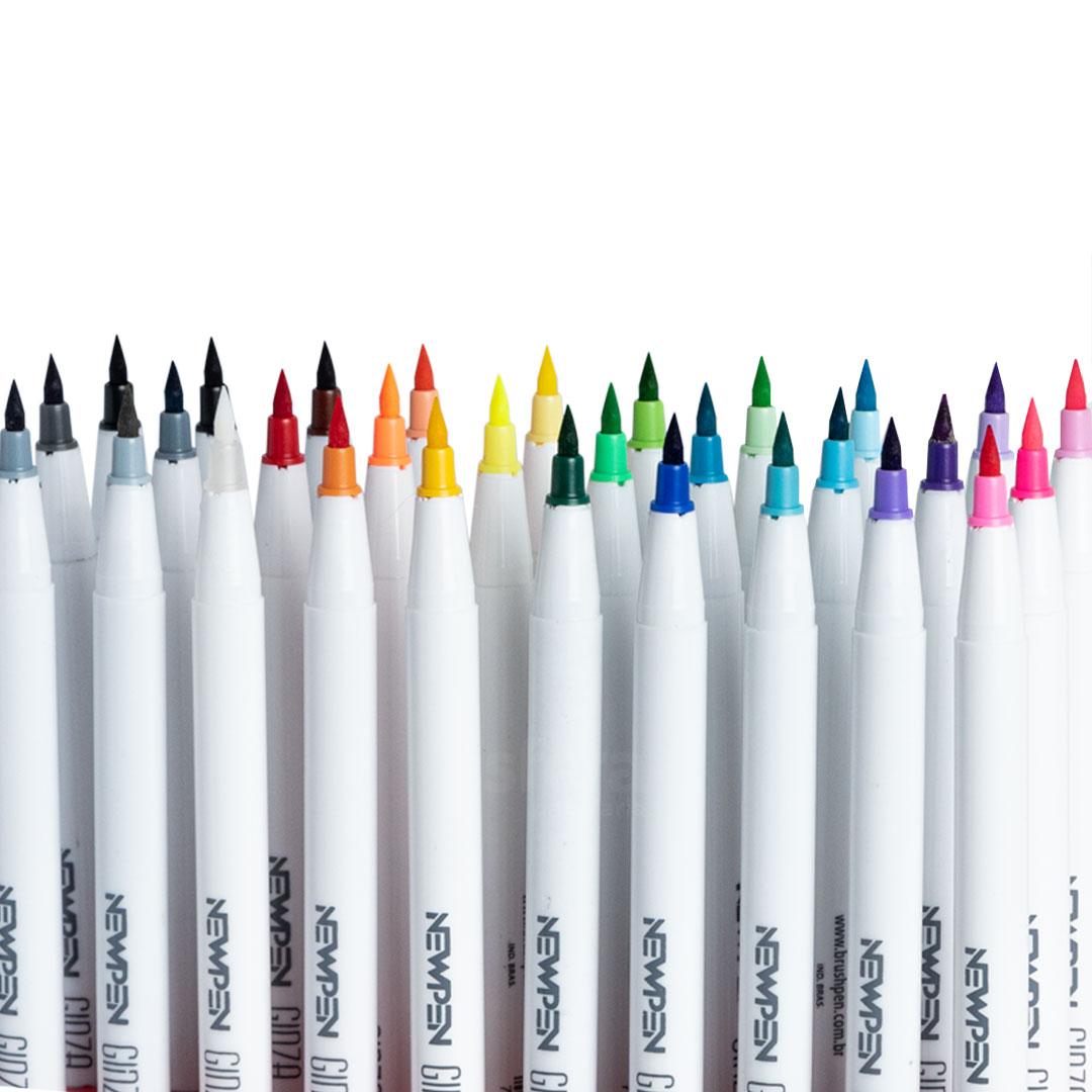 Caneta Ginza Brush Pen C/ 30 Unidades - Newpen