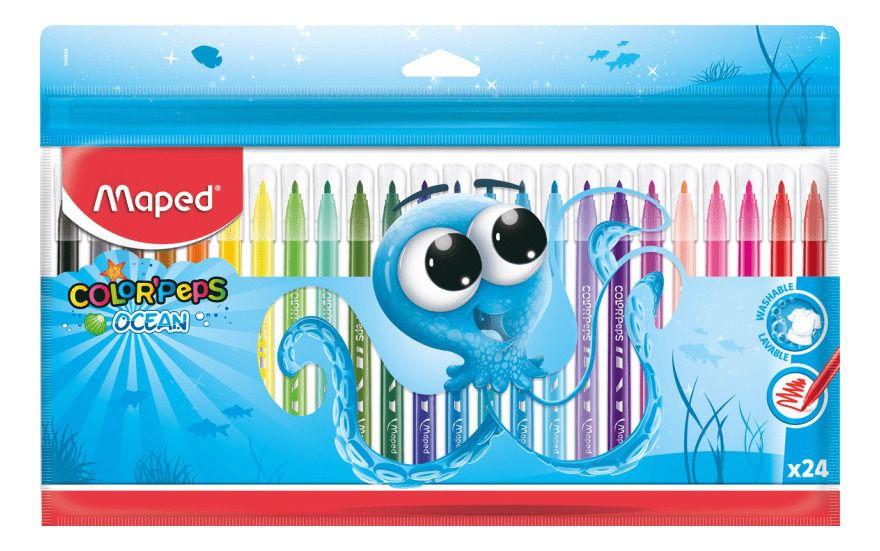 Caneta Hidrográfica Color Peps Ocean 24 Cores