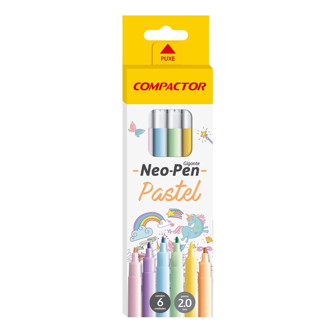 Caneta Hidrográfica Neo-Pen Gigante C/ 6 Cores