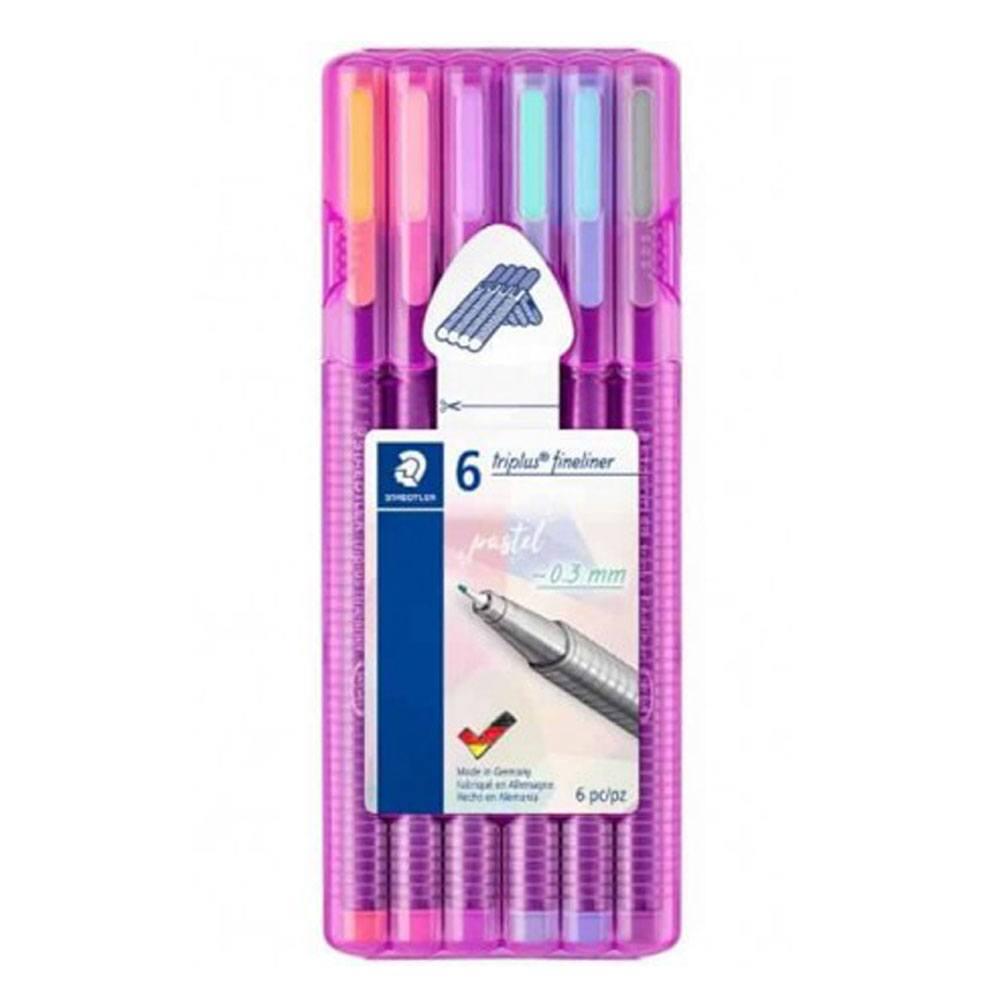 Caneta Staedtler Triplus Fineliner 0.3 mm C/ 6 Cores Pastel