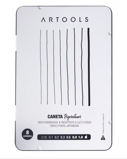 Caneta Técnica Pigmentum Artools Estojo C/8 Unidades