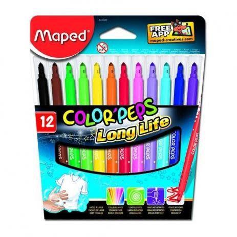 Canetas hidrofráticas Color'Peps C/ 12 Cores - MAPED