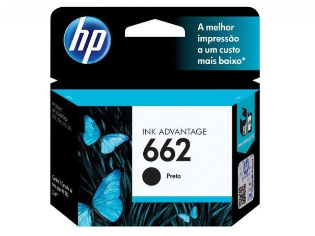 Cartucho HP 662 2ML Preto