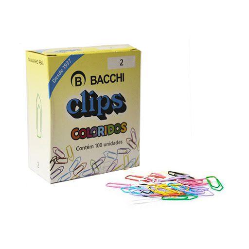 Clips Colorido Bacchi Nº 2 C/ 100 Unidades