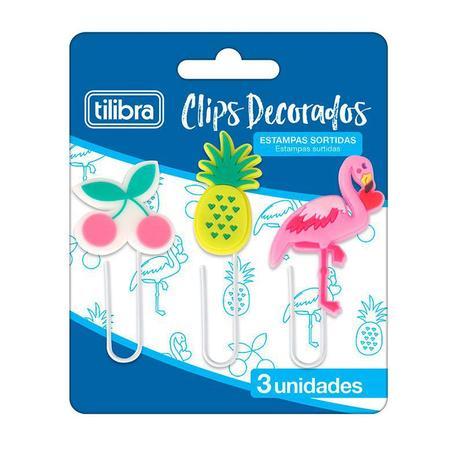 Clips Decorados Tilibra Estampas Sortidas