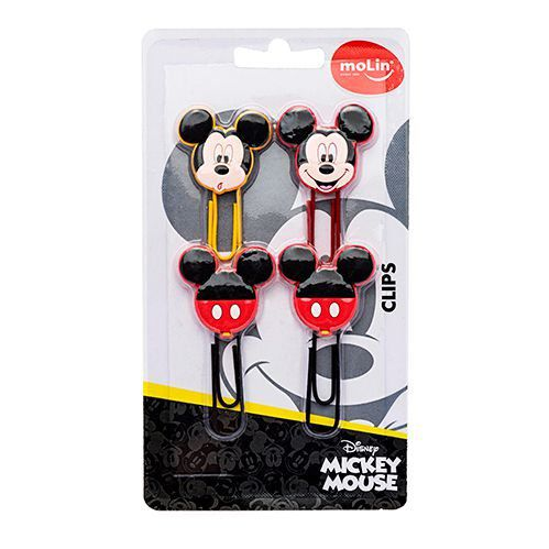Clips Mickey Mouse 50 mm C/ 4 unidades