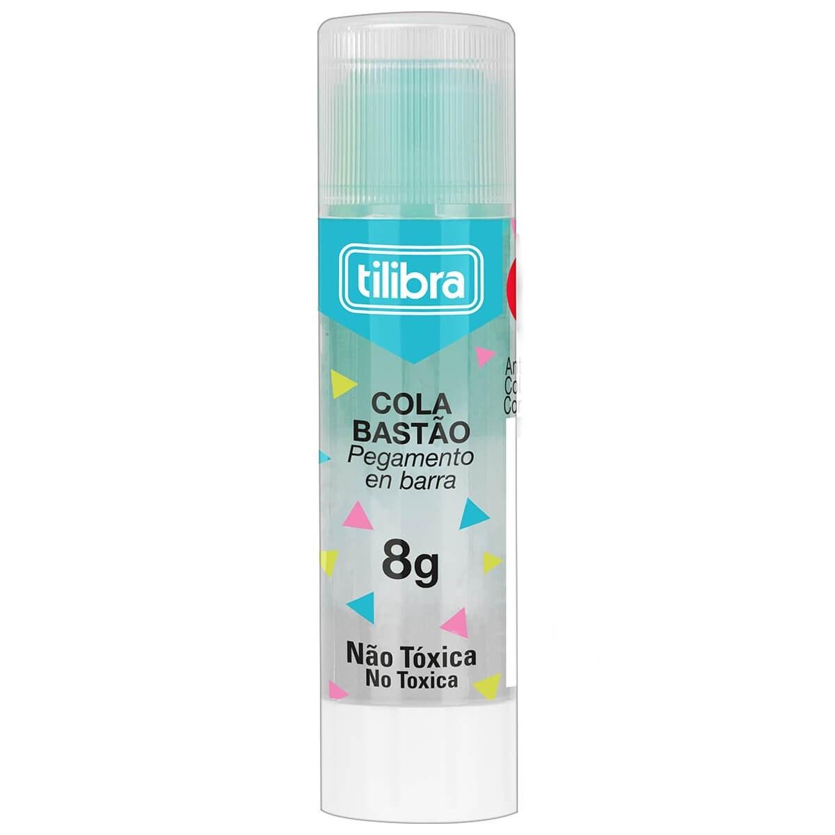 Cola Bastão Transparente Color - Tilibra