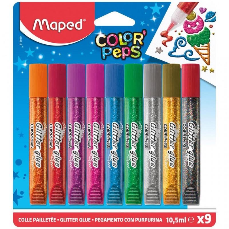 Cola Glitter Color Peps Conjunto C/ 9 Unidades
