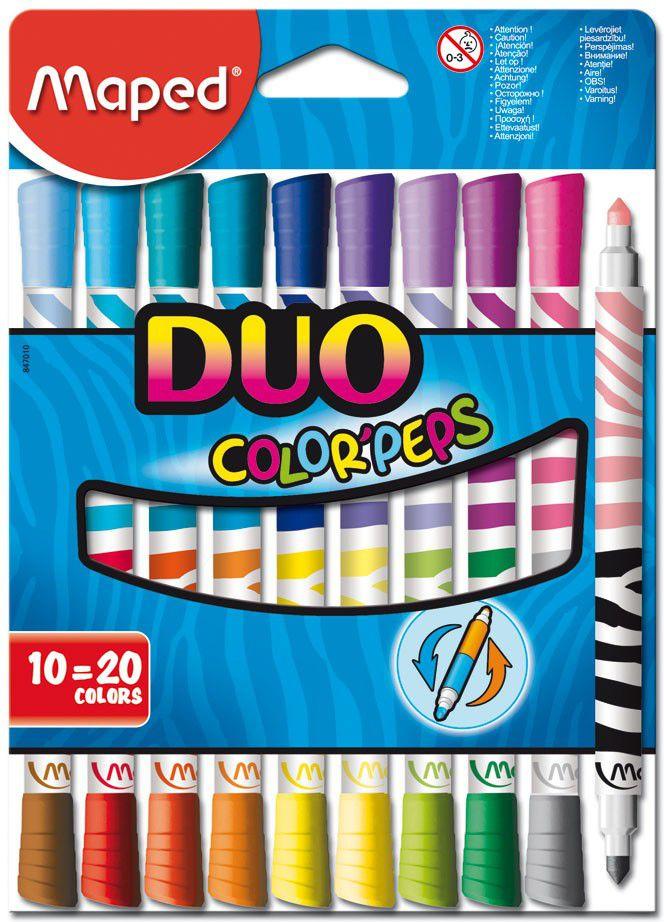 Conjunto de Canetas Hidrográficas Color'peps Duo Maped