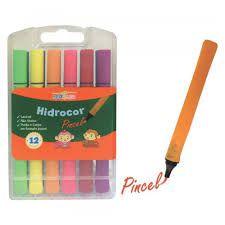 Conjunto de Canetas Pincel Hidrocor C/12 cores