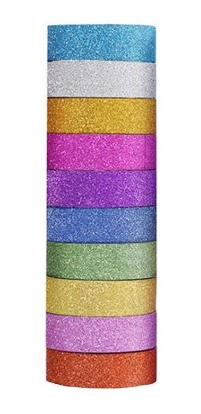 Conjunto Washi Tape Glitter C/ 10 - BRW