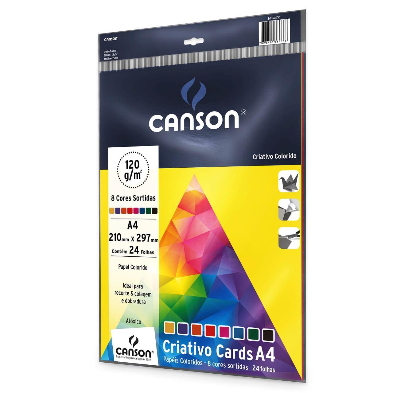 Criativo Cards A4 Pacote C/ 24 Folhas coloridas 120g