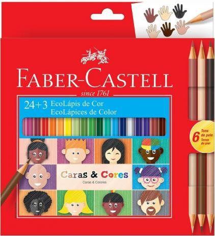 ECOLÁPIS DE COR 24+3 CARAS E CORES FABER CASTELL